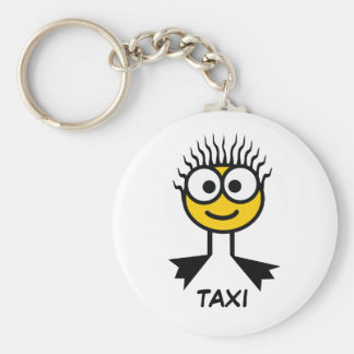 TAXI - Yellow Swim Character Keyring Basic Round Button Key Ring