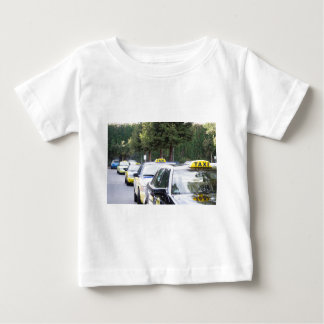 Taxis Wait in a Row for Passengers Baby T-Shirt