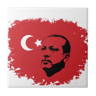 tayyip erdogan love small square tile