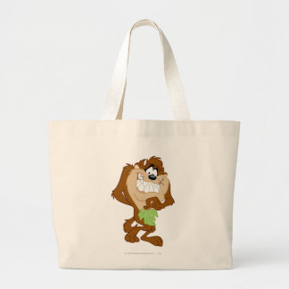 TAZ™ holding a leaf Large Tote Bag
