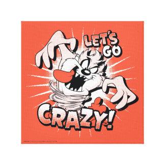"TAZ™ ""Let's Go Crazy!"" Halftone Canvas Print"