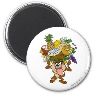 TAZ™ Thanksgiving Feast B/W 2 Magnet