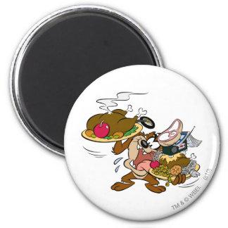 TAZ™ Thanksgiving Plates Magnet