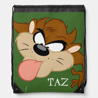 TAZ™ Tongue Out Drawstring Bag