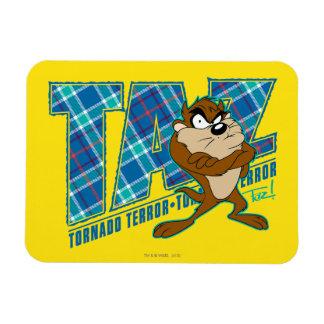 TAZ™ Tornado Terror Plaid Magnet
