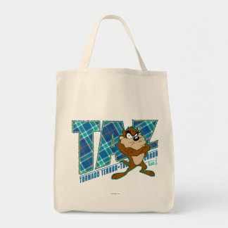 TAZ™ Tornado Terror Plaid Tote Bag