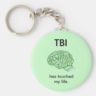 """""""TBI has touched my life"""" keychain"""