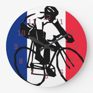 tdf vive le velo custom design large clock