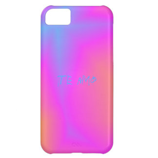 Te amo pink and blue abstract case for iPhone