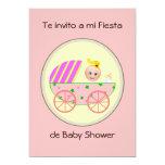 Te invito a mi fiesta de baby shower invitation