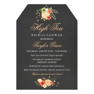 Tea Bag High Tea Bridal Shower Invitation