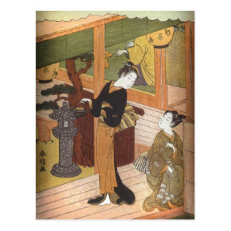 Tea House by Harunobu Postcard