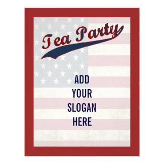 Tea Party  Flag Customizable Political 21.5 Cm X 28 Cm Flyer