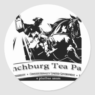 Tea Party Products Round Sticker