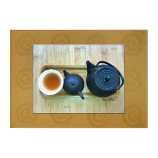 Tea Setting Still Life Photograph Overhead View Acrylic Wall Art