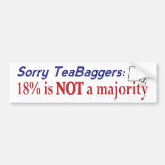 Teabagger 18% bumper sticker