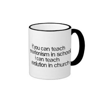 Teach Evolution In Church Ringer Mug