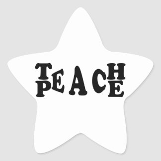 Teach Peace Star Sticker