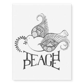 Teach Peace Temporary Tattoos