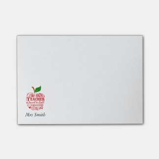 Teacher apple post-it notes