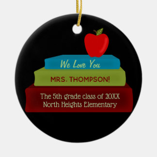 Teacher Books Keepsake Christmas Ornament