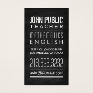 700 for professors business cards and for professors business card teacher tutor chalkboard business card reheart Gallery