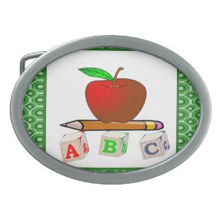 Teachers' ABC's Personalize Oval Belt Buckles