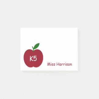 Teacher's Apple Personalized Post-it Notes