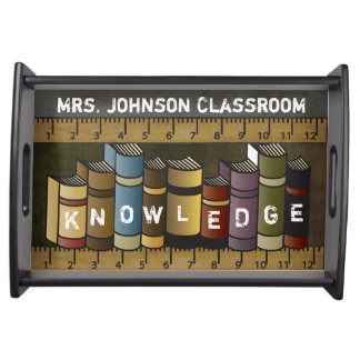Teachers Books of Knowledge Serving Tray