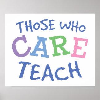 Teachers Care Poster Print