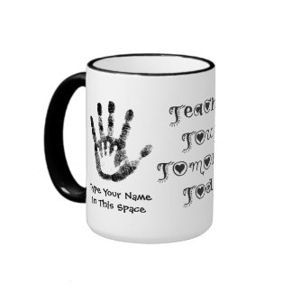 Teachers Touch Tomorrow Today -Personalized Cup Ringer Mug