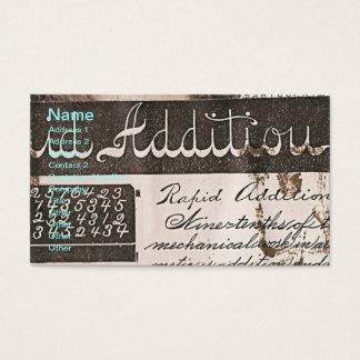 Teacher's Vintage Book Page Business Card