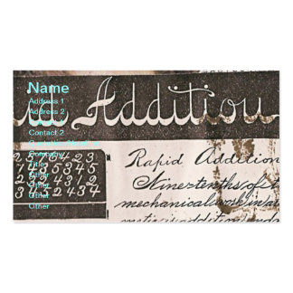 Teacher's Vintage Book Page Business Card