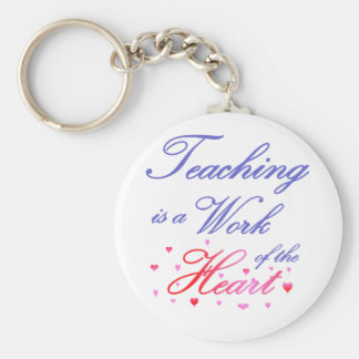 Teaching is a Work of Heart Basic Round Button Key Ring