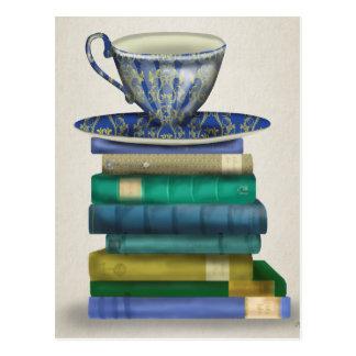 Teacup and Books 3 Postcard