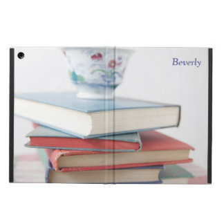 Teacup on book stack iPad case