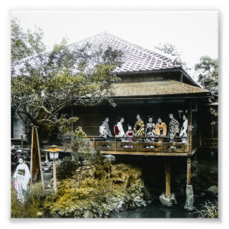 Teahouse Geisha of Old Japan Vintage Japanese Photo