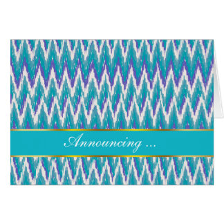 Teal and Amethyst iKat ZigZag pattern Card