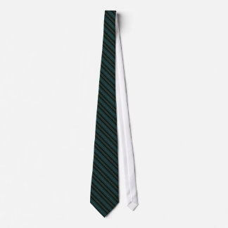 Teal and Black Striped Necktie