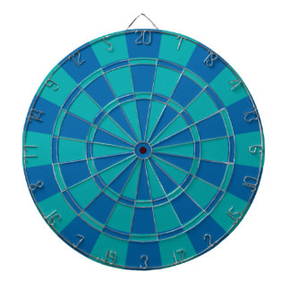 Teal And Blue Dartboard