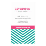 Teal and Pink Modern Chevron Stripes