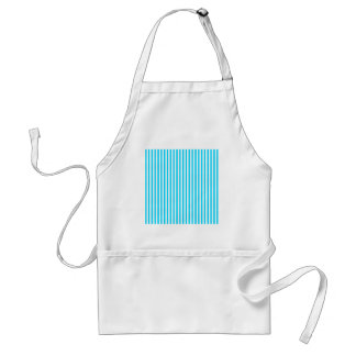 Teal and White Stripes Standard Apron