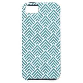 Teal Aqua Chevron Chic Geometric Pattern Elegant iPhone 5 Case