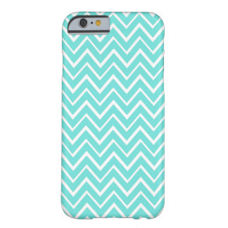 Teal aqua whimsical zigzag chevron pattern case barely there iPhone 6 case