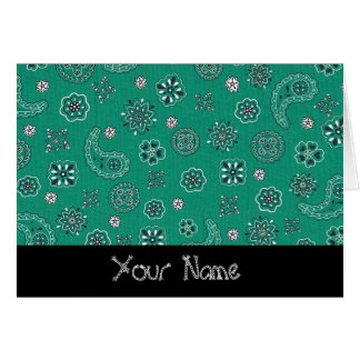 Teal Bandana Personalized Greeting Card