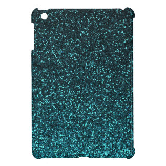 Teal blue black sparkly glitter case for the iPad mini