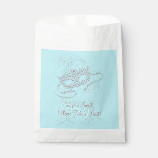Teal Blue Masquerade Party Favour Bags