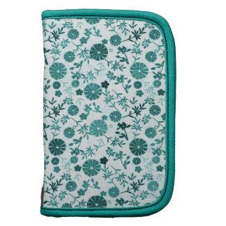 Teal Blue Mini Flower Folio Planners