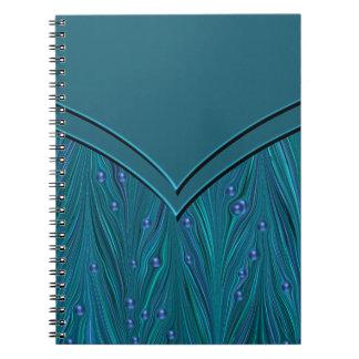 Teal Blue Spiral Notebook