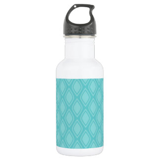 Teal Blue, Turquoise, Vintage Look 532 Ml Water Bottle